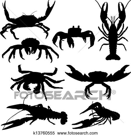 Clipart of crawfish and crab k13760555 - Search Clip Art ...