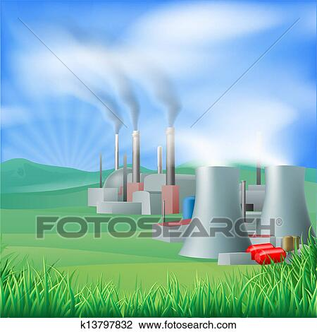 Clipart of Power plant energy generation illus k13797832 ...