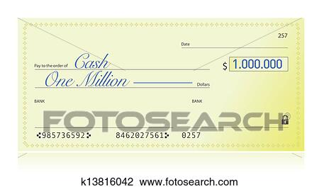 how to write one million dollars on a check