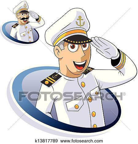 clip art of marine captain k13817789 search clipart
