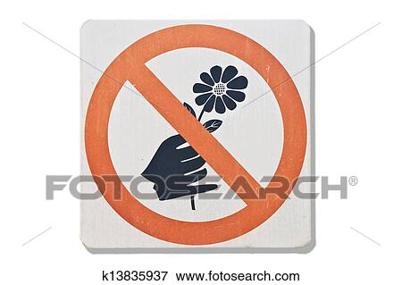 no Picking Flowers Sign images  Hdimagelib