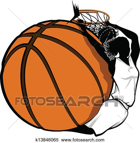 Basketball player graphic design