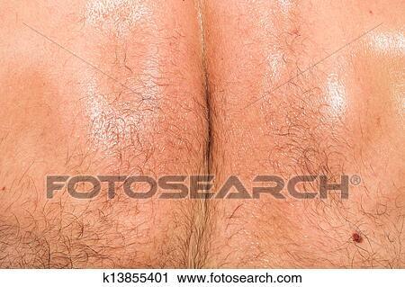 Cock in women's ass cheek spooning