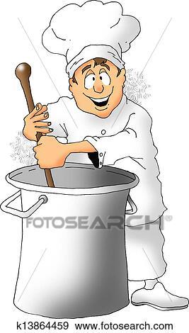 Stock Illustration Of Stirring Chef K13864459 Search