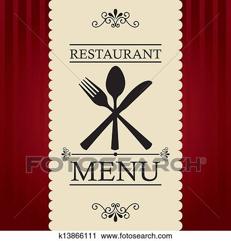 Clipart of restaurant menu k13866111 search clip art for Artistic cuisine menu