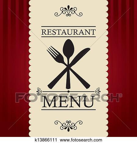 Clipart of restaurant menu k13866111 search clip art for Artistic cuisine menu