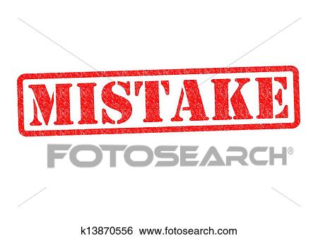 Stock Images of MISTAKE k13870556 - Search Stock ...