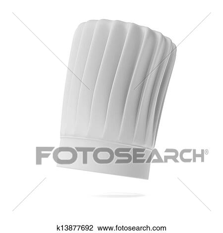 Clip Art of White tall chef hat k13877692 - Search Clipart