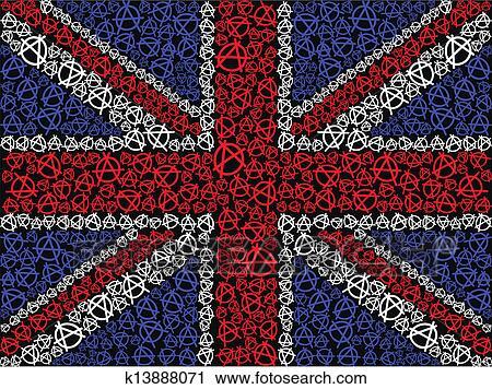 Clipart bandera inglesa s mbolo de anarqu a k13888071 - Dibujo bandera inglesa ...