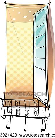 Clipart of a balcony k13927423 search clip art for Balcony clipart