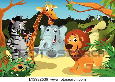 剪贴画 - african, 动物