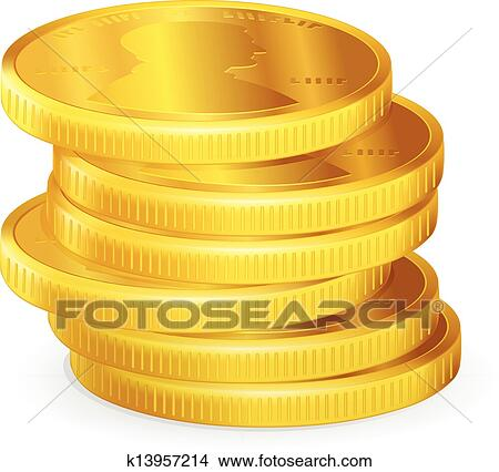 Clip Art Coins Clipart clipart of stack coins k14185045 search clip art stacks gold vector