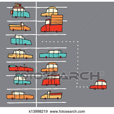 Clip Art of Parking spot found k14000558 - Search Clipart ...