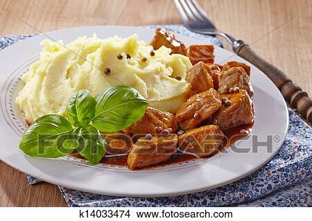 Мясо к пюре рецепт с фото