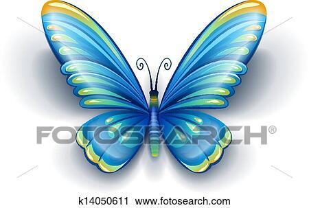 蓝色, 蝴蝶,