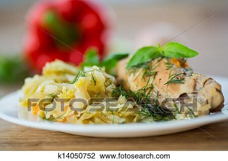 кролик с капустой рецепт с фото