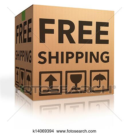 Drawings Of Free Shipping Package K14069394 Search Clip