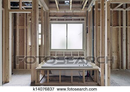image trempage baignoire dans nouveau construction maison k14076837 recherchez des. Black Bedroom Furniture Sets. Home Design Ideas