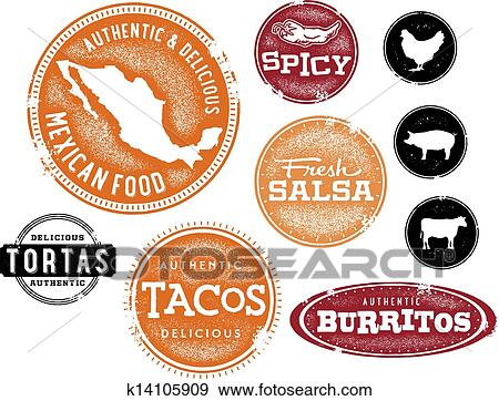 Mexican food Clip Art EPS Images. 4,162 mexican food clipart ...
