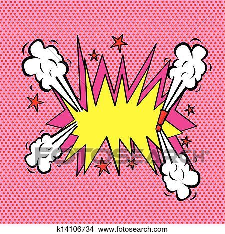 手绘图 - 爆炸, 漫画