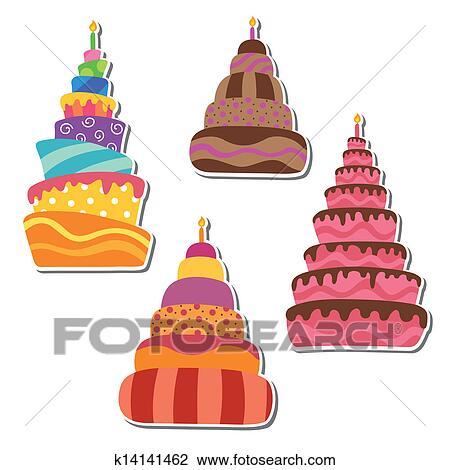 六一儿童节绘画蛋糕