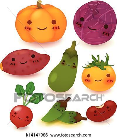 Clip art frutta e verdura collezione k14147986 for Clipart frutta