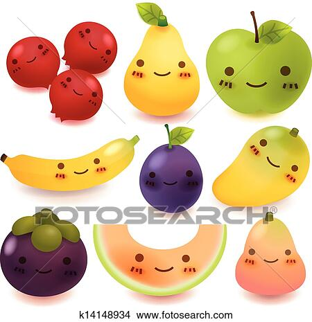 Clipart frutta e verdura collezione k14148934 cerca for Clipart frutta