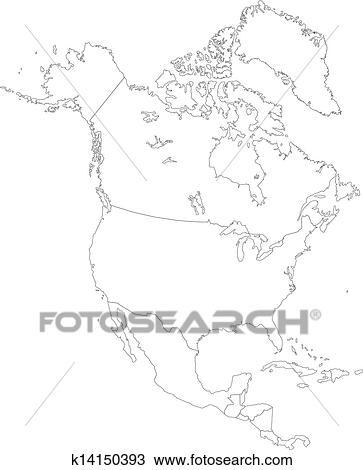 美洲地图简笔画