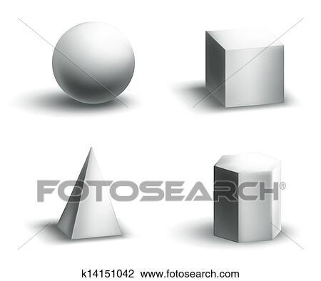 Clipart geometrische formen k14151042 suche clip art illustration wandbilder zeichnungen - Geometrische wandbilder ...