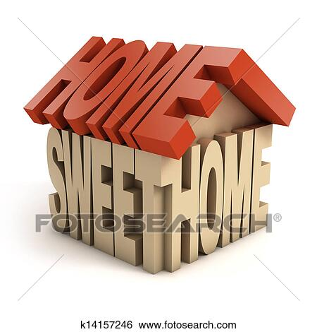 Stock illustration of home sweet home 3d letters k14157246 for Sweet home 3d italiano