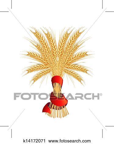 Wheat sheaf Clipart and Illustration. 580 wheat sheaf clip art ...