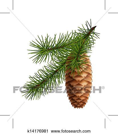 christmas pine cone drawing - photo #31