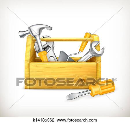 Clipart of Wooden tool...