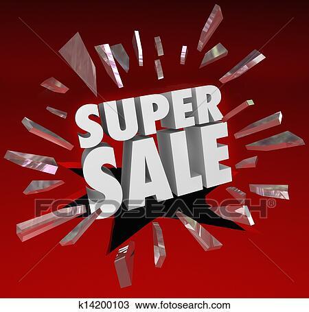 Dessin super vente mots fracasser verre grand for Super liquidation