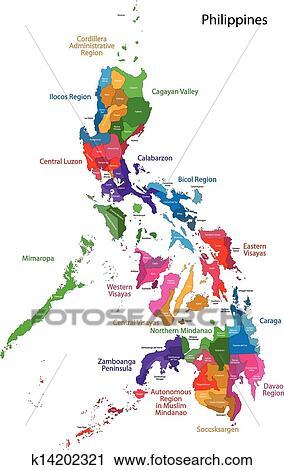 地囹kΈ�_剪贴画 - 菲律宾, 地图 k14202321 - 搜寻边框,底纹及
