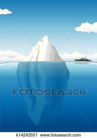 Clipart of iceberg k14243551 search clip art for Clipart iceberg