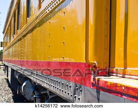 Old train side view clipart