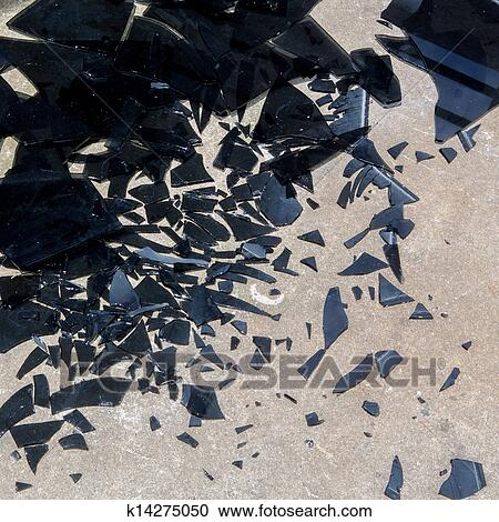 Stock photography of broken glass background k14275050 for Broken glass mural