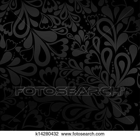 Clipart elegante schwarz seamless pattern vektor for Elegante wandbilder