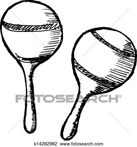 Clipart of maracas k14282982 - Search Clip Art, Illustration ...