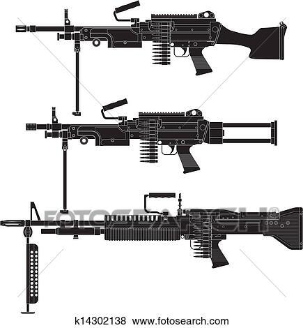 machine gun drawings - photo #44