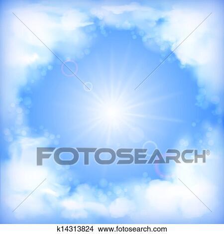 剪贴画 - 天空, 矢量,