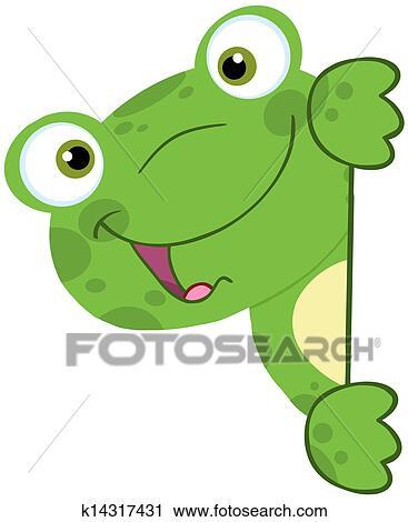 简单青蛙卡通画