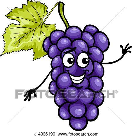 Clipart divertente blu uva frutta cartone animato for Clipart frutta