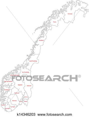 Clipart Of Outline Norway Map K Search Clip Art - Norway map outline