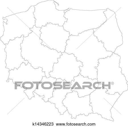波兰地图高清版大图