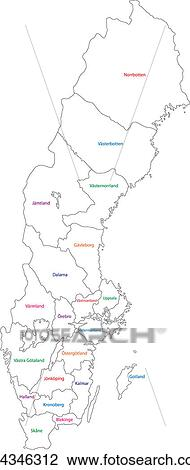 Clipart Of Outline Sweden Map K Search Clip Art - Sweden map search