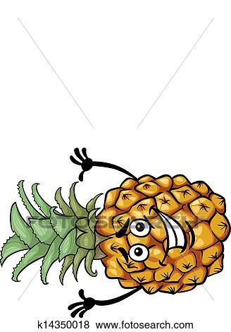 Clip art divertente ananas frutta cartone animato for Clipart frutta