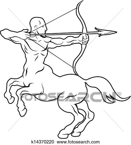 Clipart of Stylised centaur archer illustration k14370220 - Search ...