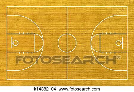 篮球场漫画手绘图片